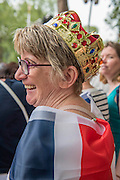 Christine Fulcher from Thurrock - Queens 90th birthday was celebrated by the traditional Trooping the Colour as well as a flotilla on the river Thames.