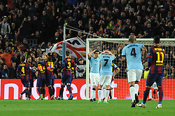 Manchester City's James Milner cuts a dejected figure as Manchester City's Sergio Aguero misses a penalty - Photo mandatory by-line: Dougie Allward/JMP - Mobile: 07966 386802 - 18/03/2015 - SPORT - Football - Barcelona - Nou Camp - Barcelona v Manchester City - UEFA Champions League - Round 16 - Second Leg
