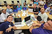 Teachers at Sharpstown High School, one of the campuses in the PowerUp pilot, received their laptops on Monday, Aug. 12! Students will get theirs in January.
