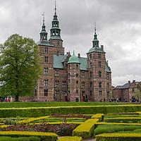 Rosenborg Castle and the surrounding gardens in Copenhagen, Denmark.