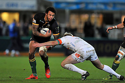 Courtney Lawes of Northampton Saints in possession - Photo mandatory by-line: Patrick Khachfe/JMP - Mobile: 07966 386802 13/12/2014 - SPORT - RUGBY UNION - Northampton - Franklin's Gardens - Northampton Saints v Treviso - European Rugby Champions Cup
