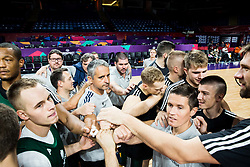 Igor Kokoskov, coach of Slovenia with players at practice session of Team Slovenia 1 day before final match against Serbia at Day 17 of FIBA EuroBasket 2017 at Sinan Erdem Dome in Istanbul, Turkey on September 16, 2017. Photo by Vid Ponikvar / Sportida