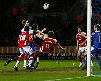 Photo: Steve Bond/Sportsbeat Images.<br /> Leicester City v Charlton Athletic. Coca Cola Championship. 29/12/2007. Patrick McCarthy (C) equalises with an overhead kick