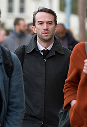 © London News Pictures. 23/04/2012. Feltham, UK. Trenton Oldfield arriving at Feltham Magistrates' Court in West London, where he is charged under the Public Order Act after he allegedly swam out into the Thames during the The boat race between Oxford and Cambridge. The incident forced the boats to stop and re-start from the halfway point. Photo credit : Ben Cawthra /LNP
