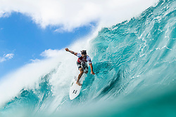December 16, 2018 - Pupukea, Hawaii, U.S. - Italo Ferreira (HAW) is eliminated from the 2018 Billabong Pipe Masters with an equal 13th finish after placing second in Heat 1 of Round 3. (Credit Image: © Kelly Cestari/WSL via ZUMA Wire)