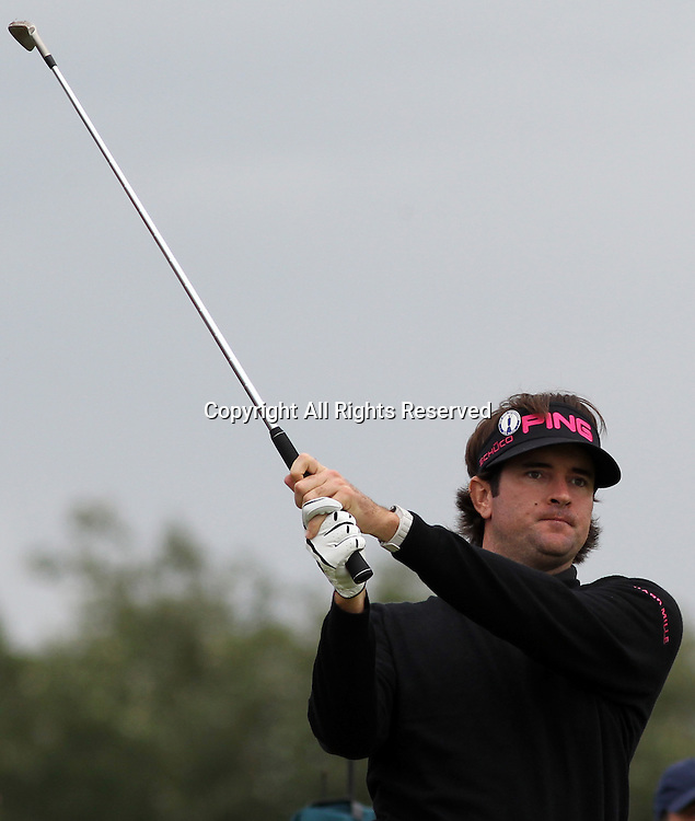 20.07.12 Lytham & St Annes, England. Masters champion Bubba Watson of America in action during the second round of The Open Golf Championship from the Royal Lytham & St Annes course in Lancashire