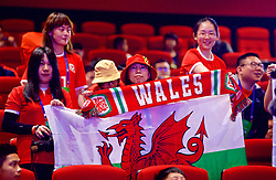 NANNING, CHINA - Saturday, March 24, 2018: Chinese Wales supporters during a meet & greet event at the Nanning Wanda Mall during the 2018 Gree China Cup International Football Championship. (Pic by David Rawcliffe/Propaganda)