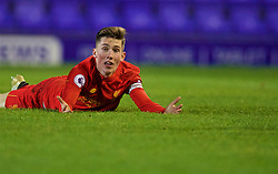 BIRKENHEAD, ENGLAND - Wednesday, November 2, 2016: Liverpool's captain Harry Wilson appeals for a goal as a FC Porto defender clears the ball off the line during the Premier League International Cup match at Prenton Park. (Pic by David Rawcliffe/Propaganda)