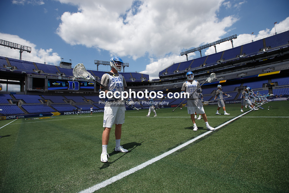 2014 May 23: Ian Yanulis #39 of the Duke Blue Devils during practice at M&T Bank Stadium in Baltimore, MD.