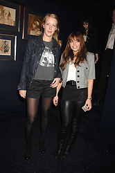 Left to right, ALICE ROTHSCHILD and WILLA KESWICK at a party to celebrate the publication of the 2007 Tatler Little Black Book held at Tramp, 40 Jermyn Street, London on 7th November 2007.<br />