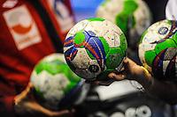 Illustration ballon Handball  - 19.03.2015 - France / Danemark - Golden League<br />Photo : Jean Paul Thomas / Icon Sport