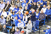 A fan throws the ball in after UK forward Anthony Davis blocked the shot out of bounds after the whistle was blown. UK hosted Ole Miss Saturday, Feb. 18, 2012 at Rupp Arena in Lexington . Photo by