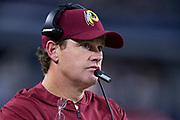 ARLINGTON, TX - NOVEMBER 22:  Head Coach Jay Gruden of the Washington Redskins on the sidelines during a game against the Dallas Cowboys at AT&T Stadium on November 22, 2018 in Arlington, Texas.  The Cowboys defeated the Redskins 31-23.  (Photo by Wesley Hitt/Getty Images) *** Local Caption *** Jay Gruden