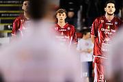 DESCRIZIONE : Roma Lega A 2014-15 <br /> Acea Virtus Roma - Giorgio Tesi Group Pistoia<br /> GIOCATORE : Tommaso Bianchi Valerio Amoroso<br /> CATEGORIA : inno pre game<br /> SQUADRA : Giorgio Tesi Group Pistoia<br /> EVENTO : Campionato Lega A 2014-2015 <br /> GARA : Acea Virtus Roma - Giorgio Tesi Group Pistoia<br /> DATA : 22/03/2015<br /> SPORT : Pallacanestro <br /> AUTORE : Agenzia Ciamillo-Castoria/N. Dalla Mura<br /> Galleria : Lega Basket A 2014-2015  <br /> Fotonotizia : Roma Lega A 2014-15 Acea Virtus Roma - Giorgio Tesi Group Pistoia