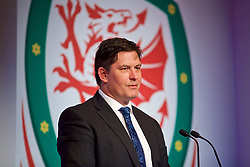 NEWPORT, WALES - Saturday, May 19, 2018: Welsh Football Trust Chief Executive Neil Ward during the Football Association of Wales Under-16's Caps Presentation at the Celtic Manor Resort. (Pic by David Rawcliffe/Propaganda)