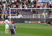 Toulouse score their second goal. Toulouse v Lyon (2-0), Ligue 1, Stade Municipal, Toulouse, France, 1st May 2011.