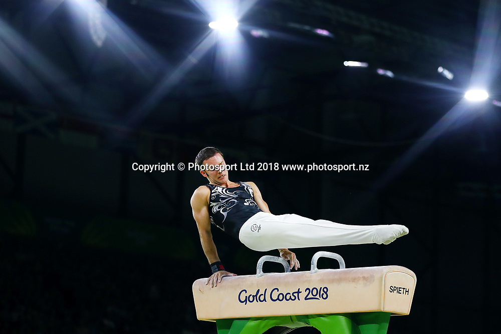 Mikhail Koudinov of New Zealand competes in the Men's Individual All-Around Final. Gold Coast 2018 Commonwealth Games, Gymnastics Men's Individual All-Around Final, Coomera Indoor Sports Centre, Gold Coast, Australia. 7 April 2018 © Copyright Photo: Anthony Au-Yeung / www.photosport.nz