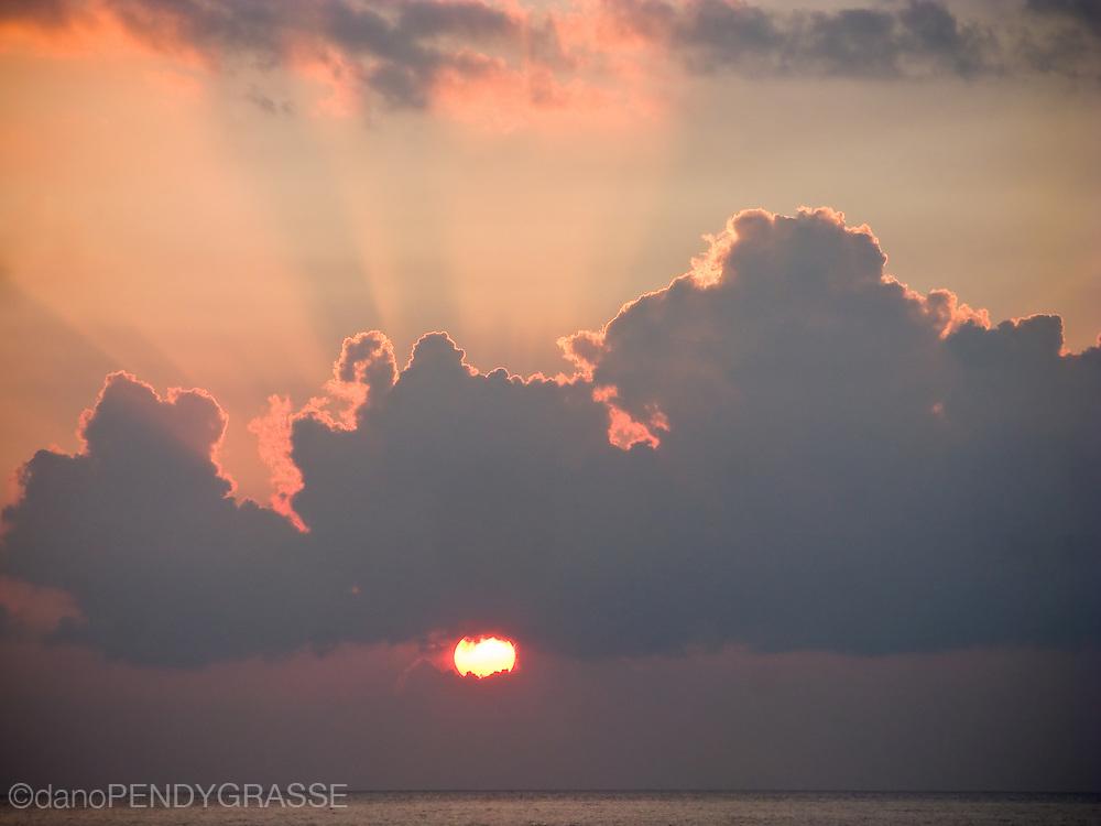 Another beautiful sunset in Maui, Hawaii, USA.