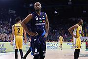 Delusione Landry Marcus, Germani Basket Brescia vs Auxilium Fiat Torino, Poste Mobile Final 8 2018 Finale, Lega Basket 2017/2018 Firenze 18 febbraio 2018 Nelson Mandela Forum