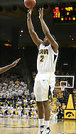 26 NOVEMBER 2007: Iowa center David Palmer (2) puts up a shot in Wake Forest's 56-47 win over Iowa at Carver-Hawkeye Arena in Iowa City, Iowa on November 26, 2007.