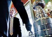 Dec 13, 2010 - Washington, District of Columbia, U.S. -  Senate Assistant Majority Leader DICK DURBIN,(D-IL) hosts a reception with the Stanley Cup, the National Hockey League's championship trophy at the Captiol on Monday. (Credit Image: © Pete Marovich/ZUMA Press)