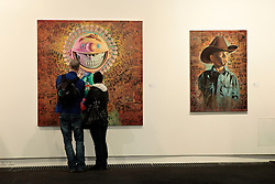 Ron English, Mandala Grin , 2009 ; Cowoy Kool 2009