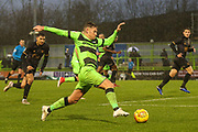 Forest Green Rovers Dayle Grubb(8) runs forward during the EFL Sky Bet League 2 match between Forest Green Rovers and Mansfield Town at the New Lawn, Forest Green, United Kingdom on 15 December 2018.