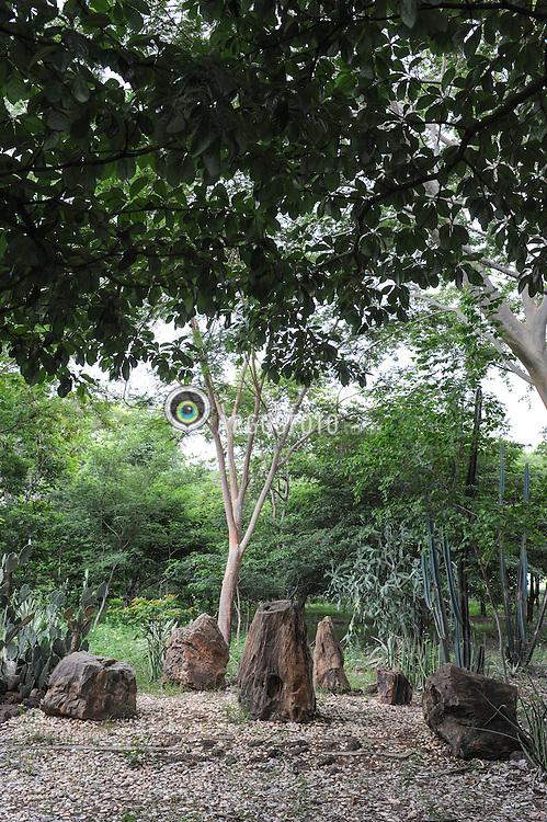 Floresta Fossil de Teresina - Sitio paleontologico localizado nas margens do Rio Poti, na area urbana de Teresina, Piaui, com troncos fosseis do periodo Permiano (aprox. 280-270 milhoes de anos atras). Destaca-se por possuir varios troncos petrificados em posicao de crescimento, e por ser o unico sitio paleontologico dentro de uma capital brasileira. = Teresina's Fossil Forest - paleontological site located on the banks of the Rio Poti, Teresina urban area, in the Brazilian state of Piaui. With fossil trunks of the Permian period (about 280-270 million years ago.). It stands out because it has several trunks petrified in growth position, and for being the only paleontological site in a Brazilian capital.