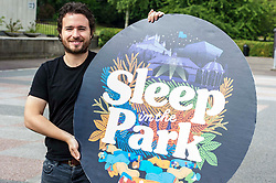 Pictured: Josh Littlejohn<br /> <br /> Social Bite Co-founder Josh Littlejohn revealed details of the event which will see sleeping in the park in Edinburgh, Glasgow, Aberdeen and Dundee<br /> <br /> Ger Harley | EEm 26 June 2018