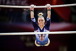 October 28, 2018 - Doha, Quatar - Lorette Charpy of  France   during  Uneven Bars qualification at the Aspire Dome in Doha, Qatar, Artistic FIG Gymnastics World Championships on 28 of October 2018. (Credit Image: © Ulrik Pedersen/NurPhoto via ZUMA Press)