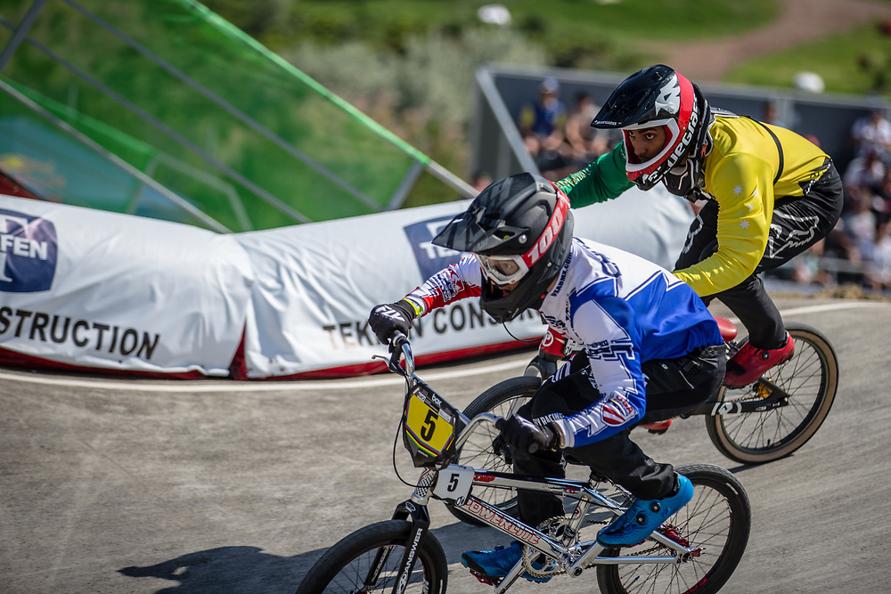 15 Boys #5 (CHUDZIK Henry) USA at the 2018 UCI BMX World Championships in Baku, Azerbaijan.