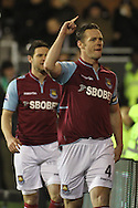 Picture by David Horn/Focus Images Ltd +44 7545 970036.30/01/2013.Kevin Nolan of West Ham United celebrates scoring the equalising goal during the Barclays Premier League match at Craven Cottage, London.