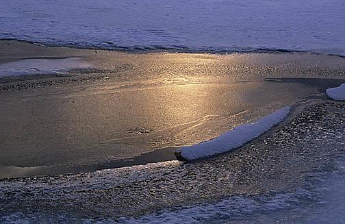 Japan, Sunset over Lake Kussharo.