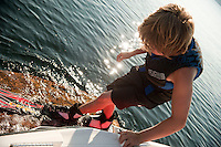 Bradley's waterskiing on Lake Winnipesaukee August 26, 2011.