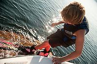Bradley's waterskiing on Lake Winnipesaukee August 26, 2011.