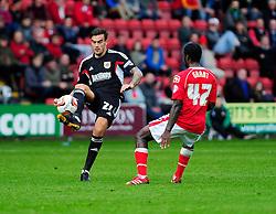 Bristol City's Marlon Pack passes the ball on - Photo mandatory by-line: Dougie Allward/JMP - Tel: Mobile: 07966 386802 19/10/2013 - SPORT - FOOTBALL - Alexandra Stadium - Crewe - Crewe V Bristol City - Sky Bet League One