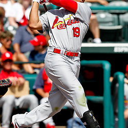 March 19, 2012; Lake Buena Vista, FL, USA; St. Louis Cardinals center fielder Jon Jay (19) against the Atlanta Braves during a spring training game at Disney Wide World of Sports complex. Mandatory Credit: Derick E. Hingle-US PRESSWIRE