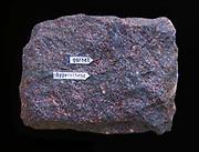 Garnet pyroxene granulite , Greifendorf, Saxony, Germany.