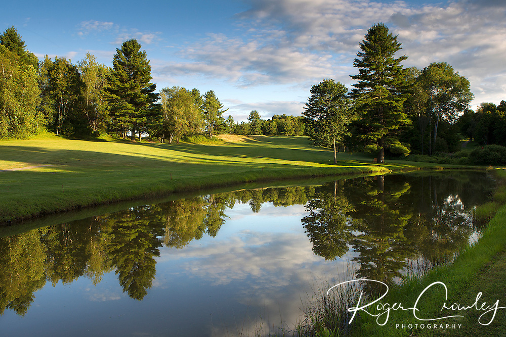 Country Club of Barre in Plainfield Vermont. This is a look from the tee box at the fairway on the 10th hole.