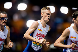 August 10, 2018 - Berlin, GERMANY - 180810 Filip Ingebrigtsen of Norway during the men's 1500 meter final during the European Athletics Championships on August 10, 2018 in Berlin..Photo: Vegard Wivestad GrÂ¿tt / BILDBYRN / kod VG / 170201 (Credit Image: © Vegard Wivestad Gr¯Tt/Bildbyran via ZUMA Press)