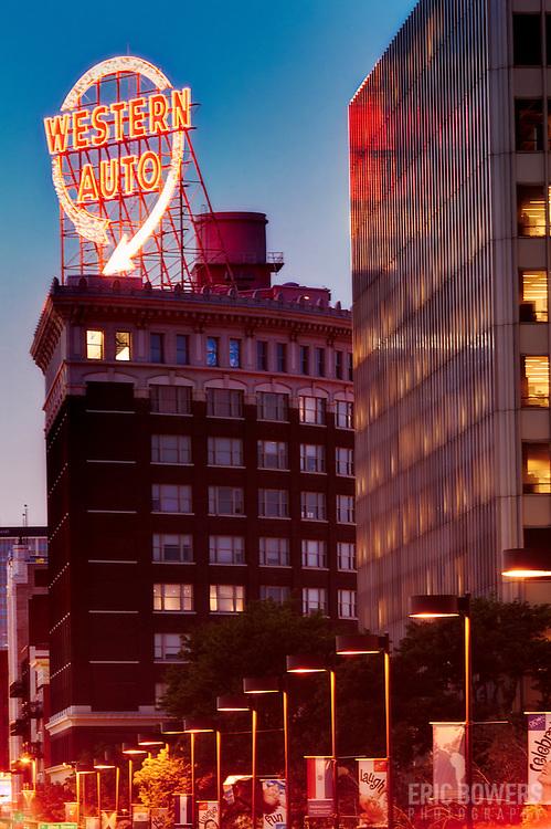 Western Auto Building, downtown Kansas City, Missouri.