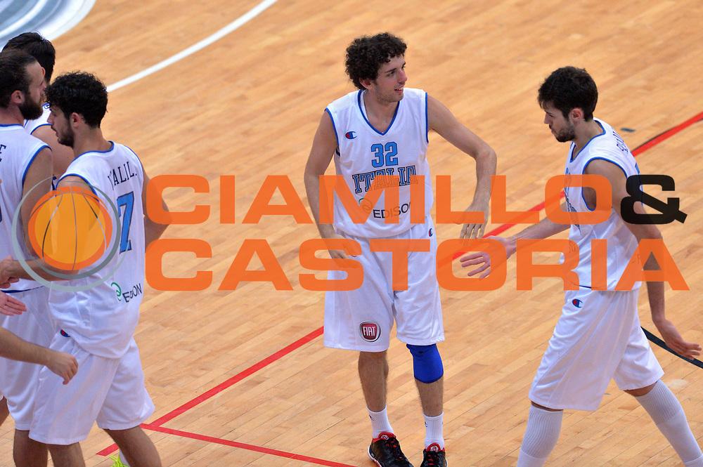 DESCRIZIONE : Trento Nazionale Italia Uomini Trentino Basket Cup Italia Germania Italy Germany<br /> GIOCATORE : Amedeo Della Valle Davide Pascolo<br /> CATEGORIA : Esultanza Fairplay<br /> SQUADRA : Italia Italy<br /> EVENTO : Trentino Basket Cup<br /> GARA : Italia Germania Italy Germany<br /> DATA : 10/07/2014<br /> SPORT : Pallacanestro<br /> AUTORE : Agenzia Ciamillo-Castoria/GiulioCiamillo<br /> Galleria : FIP Nazionali 2014<br /> Fotonotizia : Trento Nazionale Italia Uomini Trentino Basket Cup Italia Germania Italy Germany