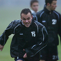 St Johnstone Training...02.12.03<br />Mark Robertson pictured during training this morning before tomorrow's CIS cup clash with Rangers.<br />see story by Gordon Bannerman Tel: 01738 553978<br />Picture by Graeme Hart.<br />Copyright Perthshire Picture Agency<br />Tel: 01738 623350  Mobile: 07990 594431