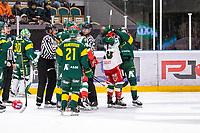 2019-12-02 | Umeå, Sweden:Little fight between Björklöven (77) David Lindquist and Mora (10) Dustin Gazley in  HockeyAllsvenskan during the game  between Björklöven and Mora at A3 Arena ( Photo by: Michael Lundström | Swe Press Photo )<br /> <br /> Keywords: Umeå, Hockey, HockeyAllsvenskan, A3 Arena, Björklöven, Mora, mlbm191202