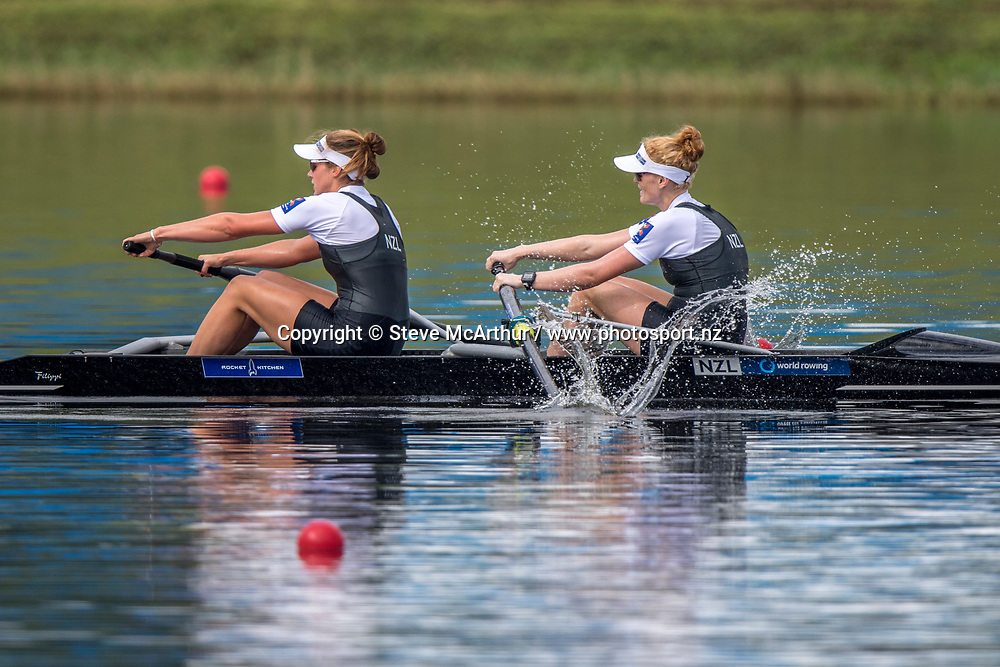 Kerri Gowler and Grace Prendergast New Zealand Womens Coxless Pair , World Champions 2017<br /> <br /> Finals races at the World Championships, Sarasota, Florida, USA Saturday 30 September 2017. Copyright photo &copy; Steve McArthur / www.photosport.nz