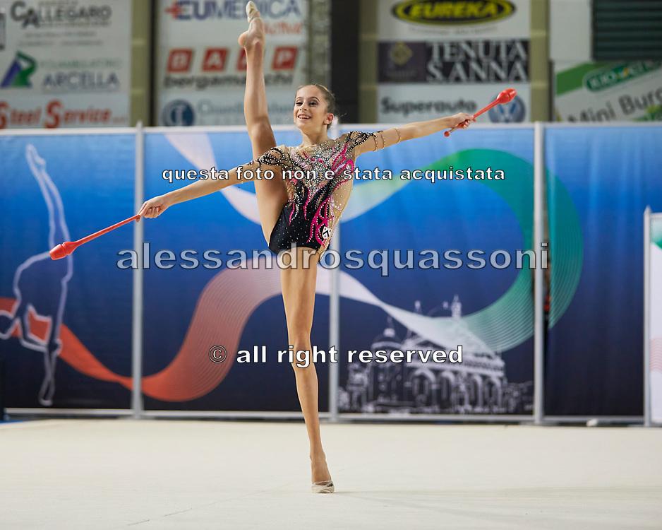 Gaia Piantella from Udinese team during the Italian Rhythmic Gymnastics Championship in Padova, 25 November 2017.