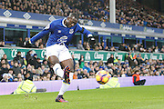 Everton's  Yannick Bolasie (14)  shoots during the Premier League match between Everton and Manchester United at Goodison Park, Liverpool, England on 4 December 2016. Photo by Craig Galloway.
