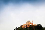 The Iglesia de Nuestra Señora de los Remedios Church ontop of Tlachihualtepetl in Cholula