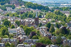 Large  villas in upmarket Morningside district of Edinburgh, Scotland, UK