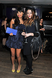 Left to right, JAMEELA JAMIL and LIZA CROMPTON-PRALL at the InStyle Best of British Talent Event in association with Lancôme and Charles Worthington held at The Rooftop Restaurant, Shoreditch House, Ebor Street, E1 on 26th January 2012.